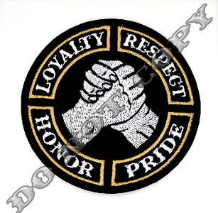 Loyalty Respect Honor Pride patch biker patches