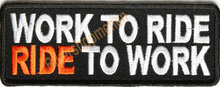 patch - Work To Ride Ride To Work
