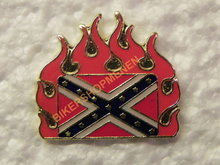 Pin Rebel flag in flames