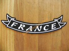 Biker back rocker patch FRANCE wit