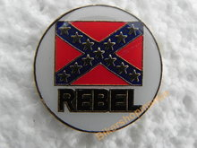 Pin Rebel vlag rond wit