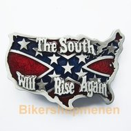 Buckle Confederate Rebel Flag the south will rise again